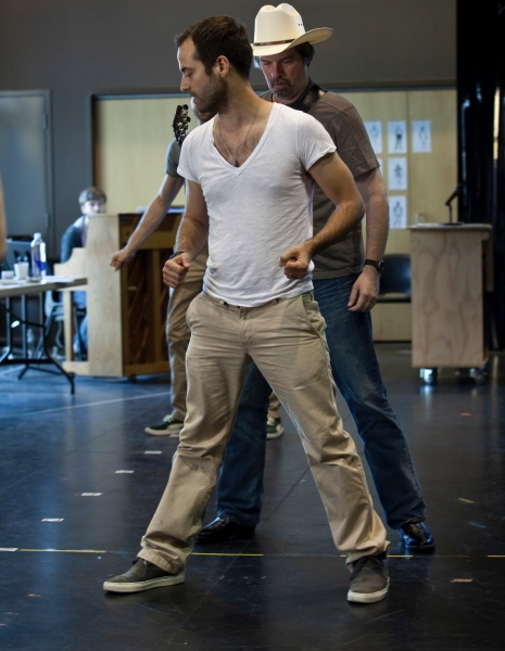 Photo Flash: Hunter Foster, Allison Case, et al. In Rehearsal for La Jolla's HANDS ON A HARDBODY!