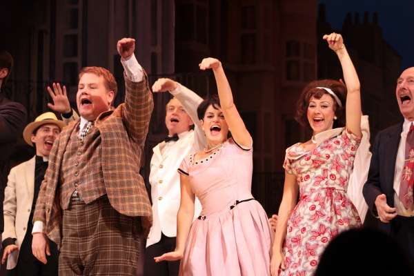 James Corden, Jemima Rooper, Claire Lams, Fred Ridgeway at ONE MAN, TWO GUVNORS Opens on Broadway - Curtain Call and After Party!