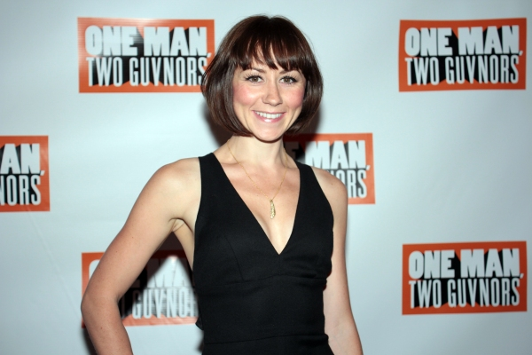 Claire Lams at ONE MAN, TWO GUVNORS Opens on Broadway - Curtain Call and After Party!