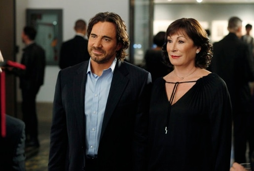 Thorsten Kaye & Anjelica Huston at New Photos from SMASH's 'Publicity Episode', Airing 4/23
