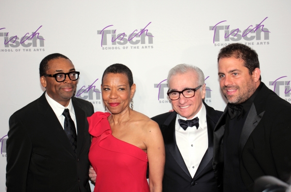 Spike Lee, Mary Schmidt Campbell, Martin Scorsese, Brett Ratner at Martin Scorsese, Alec Baldwin et al. Celebrate at NYU's Tisch Gala
