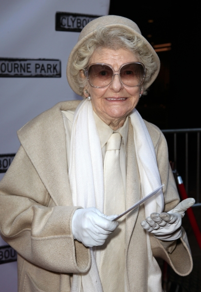 Elaine Stritch  at CLYBOURNE PARK Theatre Arrivals - Edie Falco, Elaine Stritch & More!