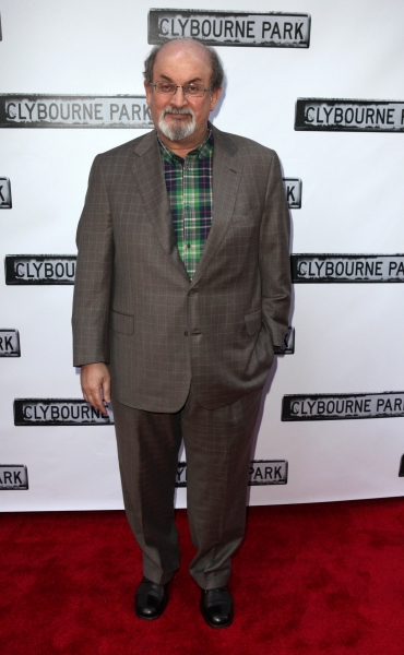 Salman Rushdie at CLYBOURNE PARK Theatre Arrivals - Edie Falco, Elaine Stritch & More!