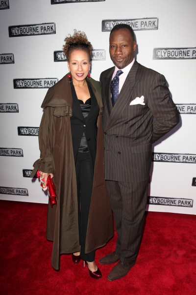 Tamara Tunie & husband Gregory Generet  at CLYBOURNE PARK Theatre Arrivals - Edie Falco, Elaine Stritch & More!