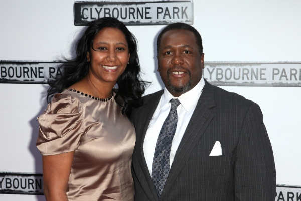 Wendell Pierce & Guest  at CLYBOURNE PARK Theatre Arrivals - Edie Falco, Elaine Stritch & More!