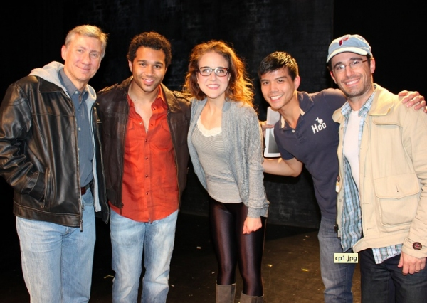 Photo Flash: Corbin Bleu, GODSPELL and Eden Espinosa Visit SILENCE! THE MUSICAL