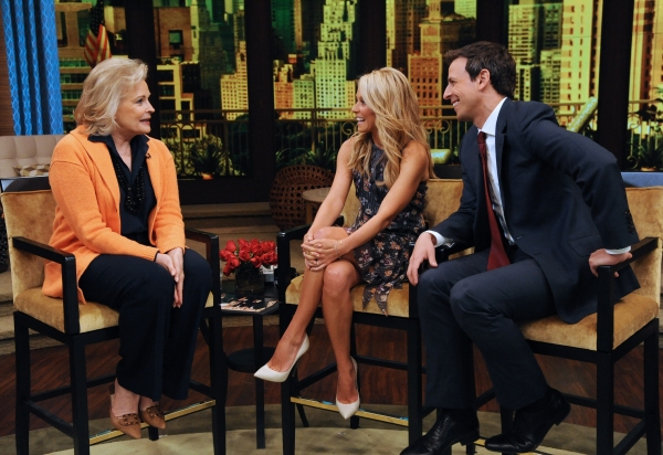 Candice Bergen, Kelly Ripa and Seth Meyers