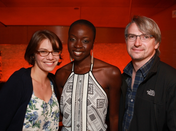 Lauren Cohan, Danai Gurira and Glen Mazzara