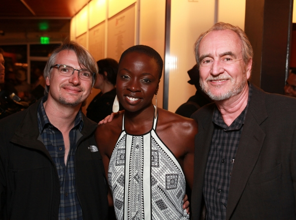 Glen Mazzara, Danai Gurira and Wes Craven