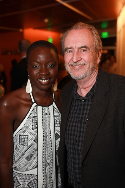 Danai Gurira and Wes Craven