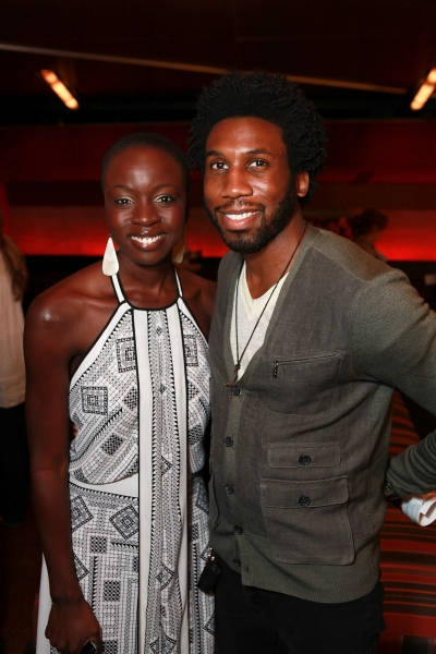 Danai Gurira and Nyambi Nyambi at Opening Night Arrivals at Kirk Douglas Theatre's THE CONVERT