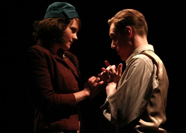Dolores Delaney (Anna Reichert) and Alvin Karpis (Josiah Austin Gulden) fall in love against both of their better judgement.