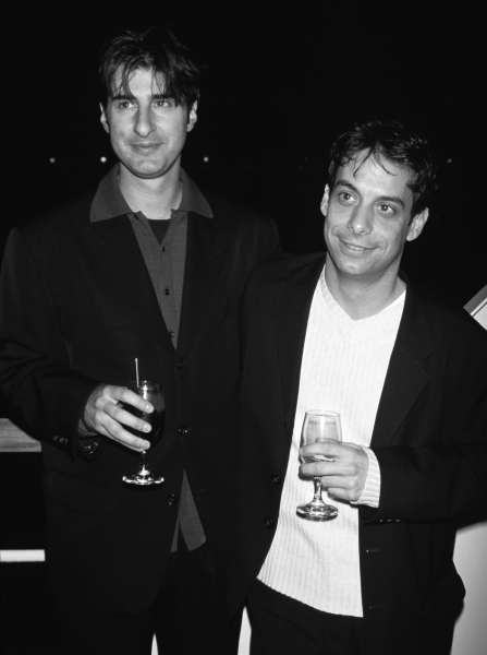 Jon Robin Baitz & Joe Mantello attending the premiere of 'Love! Valour! Compassion!' in New York City on May 6th, 1997. at Photo Blast From The Past: OTHER DESERT CITIES' Jon Robin Bates