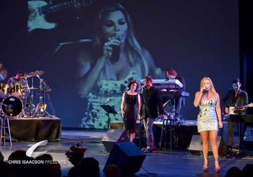 Karissa Noel and Jake Simpson backing Taylor Dayne