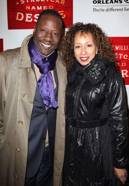 Gregory Generet and Tamara Tunie at A STREETCAR NAMED DESIRE- the Starry Opening Night Theatre Arrivals!