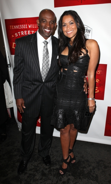 Deion Sanders and Tracey Edmonds Photo
