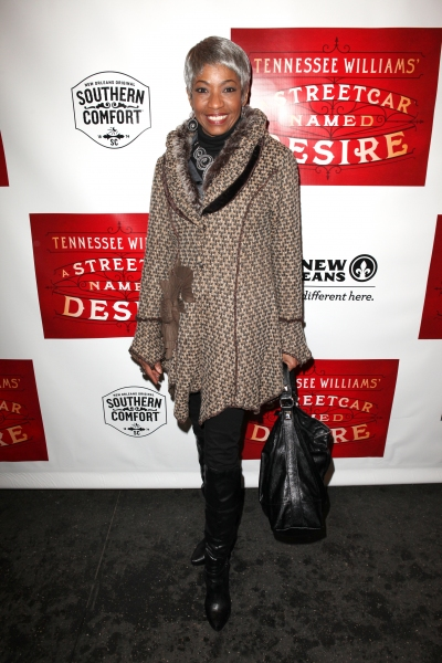 Adriane Lenox at A STREETCAR NAMED DESIRE- the Starry Opening Night Theatre Arrivals!