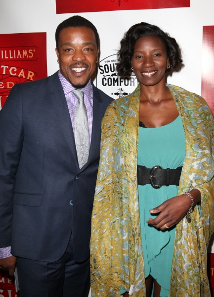 Russell Hornsby & Denise Hornsby at A STREETCAR NAMED DESIRE- the Starry Opening Night Theatre Arrivals!