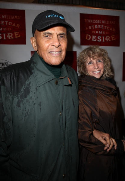 Harry Belafonte and wife Pamela Frank at A STREETCAR NAMED DESIRE- the Starry Opening Night Theatre Arrivals!