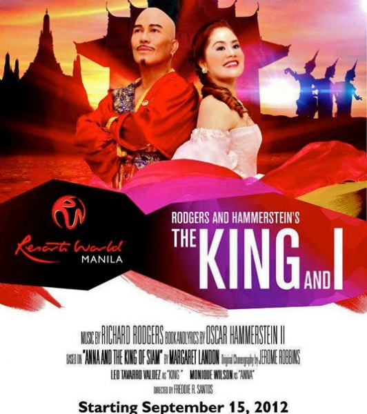 It's Official: Valdez to Join Wilson in Resorts World Manila's THE KING AND I, Starting 9/15