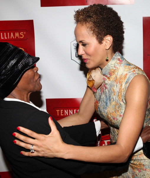 Cicely Tyson & Nicole Ari Parker at Blair Underwood, Nicole Ari Parker et al. at A STREETCAR NAMED DESIRE's After Party!