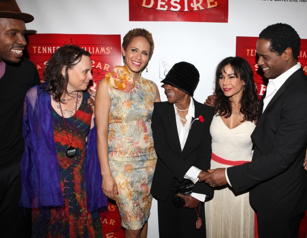 Wood Harris, Emily Mann, Nicole Ari Parker, CicelyTyson, Daphne Rubin-Vega and Blair Underwood at Blair Underwood, Nicole Ari Parker et al. at A STREETCAR NAMED DESIRE's After Party!