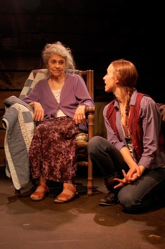 Lynn Cohen and Aidan Koehler at Lynn Cohen et al. in Barefoot Theatre Company's EAVESDROPPING ON DREAMS