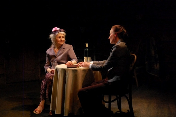 Lynn Cohen and Stephanie Roth Haberle at Lynn Cohen et al. in Barefoot Theatre Company's EAVESDROPPING ON DREAMS