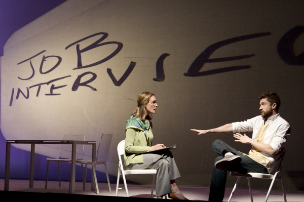 Lisa Emery and Topher Grace  at First Look at Topher Grace, Olivia Thirlby in Second Stage's LONELY, I'M NOT