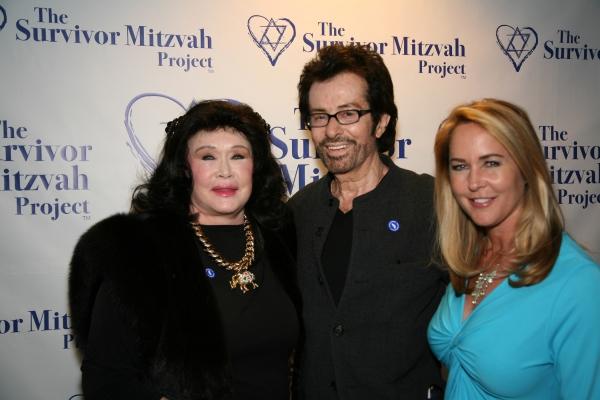 Barbara Van Orden, George Chakiris and Erin Murphy at Survivor Mitzvah Project Celebrities Raise Thousands for Holocaust Survivors