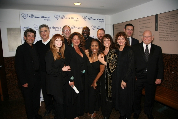 Mitzvah Cast at after party - Lft to Rht: Alan Rosenberg, Elliott Gould, Frances Fisher, Rabbi Moshe J. Kushman, Lainie Kazan, Arnold McCuller, Brenda Russell, Randal Keith, Zane Buzby, Valerie Harper, David Siegel and Ed Asner