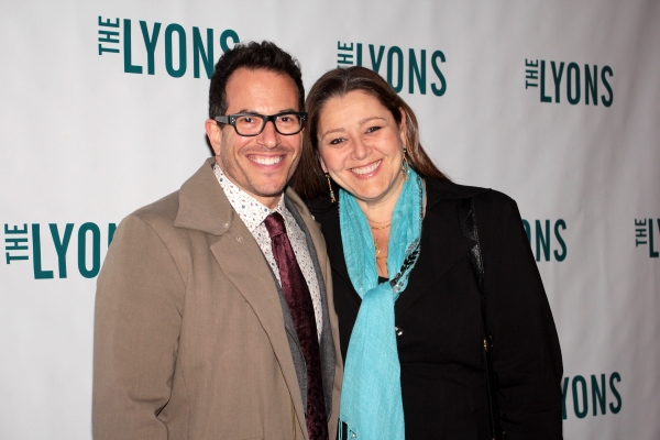 Michael Mayer, Camryn Manheim at THE LYONS- Opening Night Theatre Arrivals!