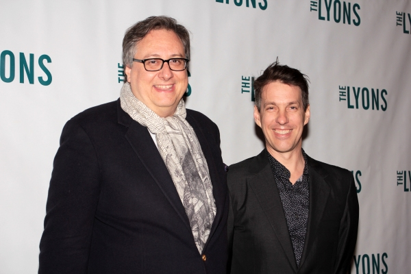 Douglas Carter Beane, Lewis Flinn at THE LYONS- Opening Night Theatre Arrivals!