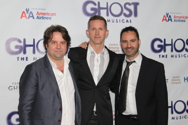 Christopher Nightingale, Hugh Vanstone and Paul Kieve at GHOST THE MUSICAL - Opening Night Party!