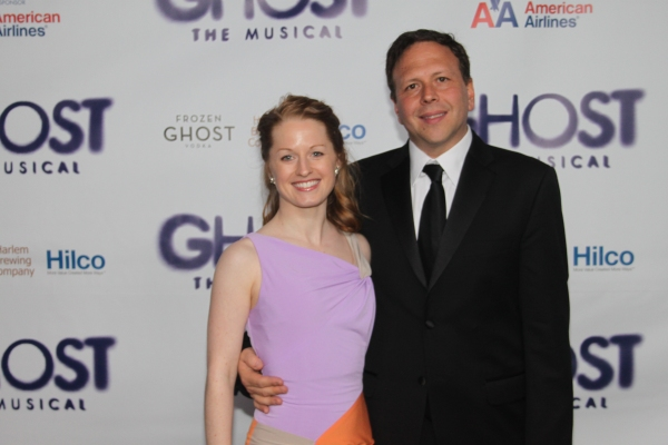 David Garfinkle and guest at GHOST THE MUSICAL - Opening Night Party!