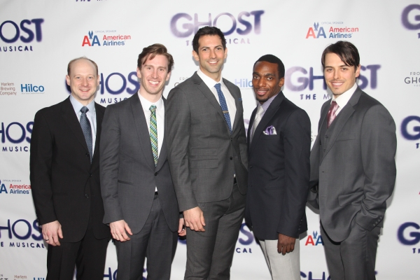 Jeremy Davis, Stephen Carrasco, John Franklin, Daniel J. Watts and Mike Cannon at GHOST THE MUSICAL - Opening Night Party!