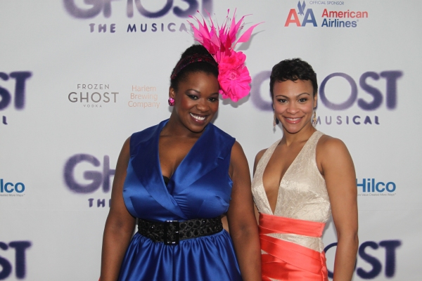 Moya Angela and Carly Hughes at GHOST THE MUSICAL - Opening Night Party!