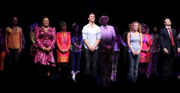 Da'Vine Joy Randolph, Paul Fleeshman, Caissie Levy & Bryce Pinkham with the Company