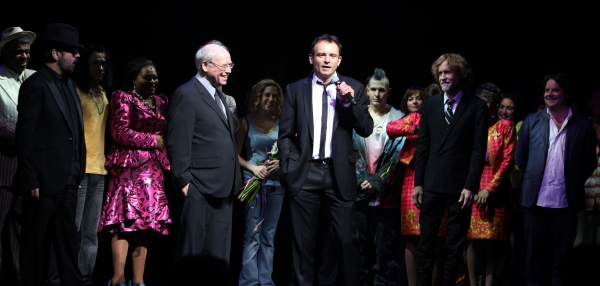 Dave Stewart, Bruce Joel Rubin, Director Matthew Warchus & Glen Ballard at GHOST THE MUSICAL - Opening Night Curtain Call!