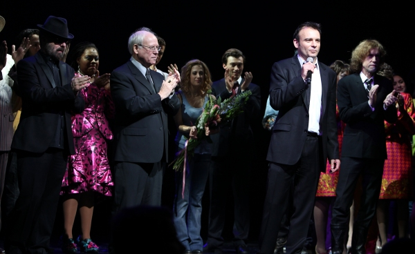 Dave Stewart, Bruce Joel Rubin & Director Matthew Warchus  at GHOST THE MUSICAL - Opening Night Curtain Call!
