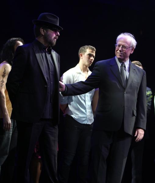 Dave Stewart, Bruce Joel Rubin & Richard Fleeshman at GHOST THE MUSICAL - Opening Night Curtain Call!