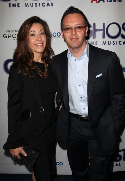 John Edward & Guest  at GHOST THE MUSICAL Opening Night Red Carpet!