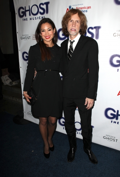 Glen Ballard & Guest  at GHOST THE MUSICAL Opening Night Red Carpet!