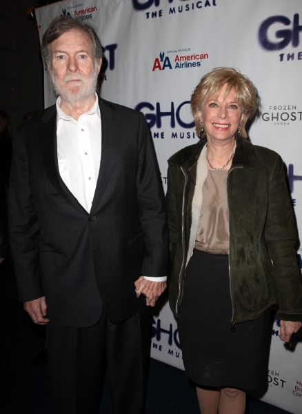 Lesley Stahl & Husband  at GHOST THE MUSICAL Opening Night Red Carpet!