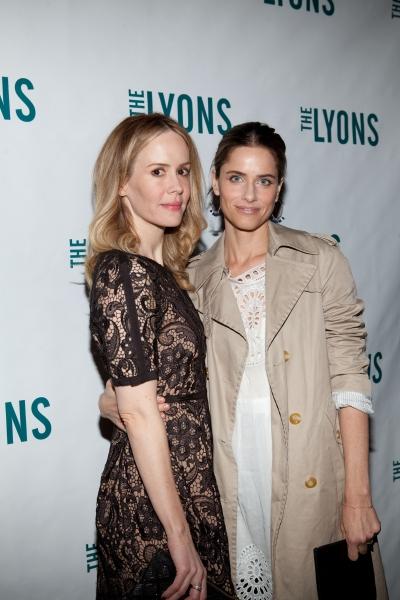 Sarah Paulson and Amanda Peet at THE LYONS- Opening Night Curtain Call!