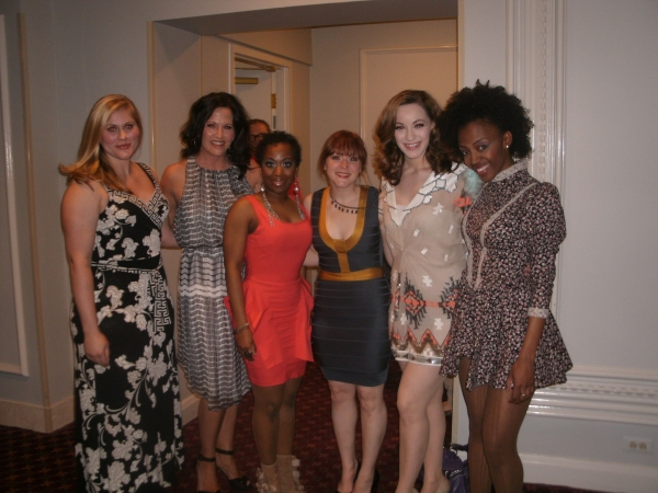 Drew Leigh Williams, Keely Vasquez, Alexis J. Rogers, Rebecca Pink, Holly Laurent, Tiffany Johnson at Opening Night of Drury Lane's HAIRSPRAY!