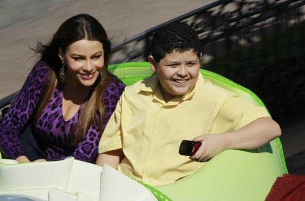 Sofia Vergara & Rico Rodriguez at More Photos of MODERN FAMILY in Disneyland!