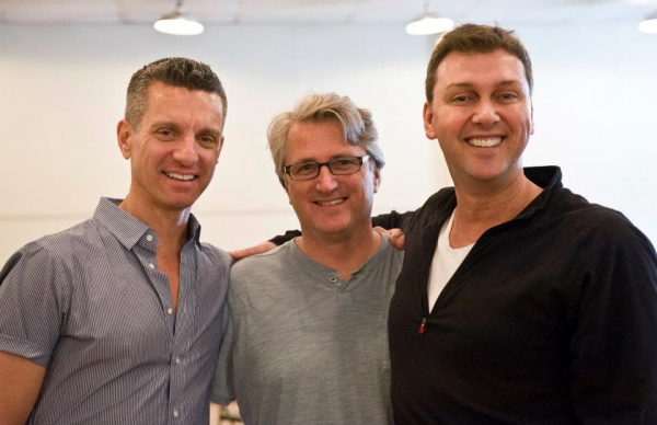 James Moore and Eric Schaeffer at Victoria Clark, et al. in Rehearsal for FOLLIES LA!