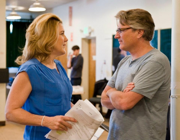 Victoria Clark and Eric Schaeffer at Victoria Clark, et al. in Rehearsal for FOLLIES LA!