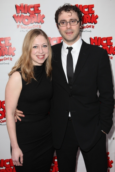 Chelsea Clinton & Mark Mezvinsky  at NICE WORK IF YOU CAN GET IT Starry Opening Night Arrivals!